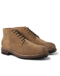 Brunello Cucinelli Shearling Lined Suede Boots