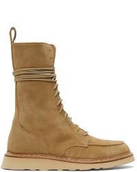 Rhude Tan Combat Boots