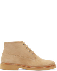 A.P.C. Tan Suede Gaspard Boots