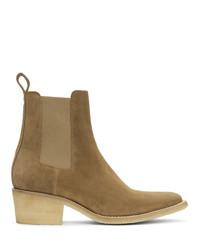 Amiri Beige Pointy Toe Chelsea Boots