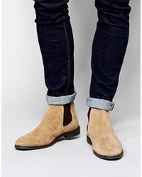 Men S Tan Suede Chelsea Boots By Asos Men S Fashion Lookastic Com