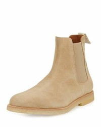 Common Projects Calf Suede Chelsea Boot Tan