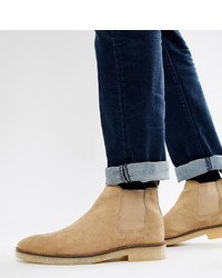 ASOS DESIGN Chelsea Boots In Stone Suede With Sole