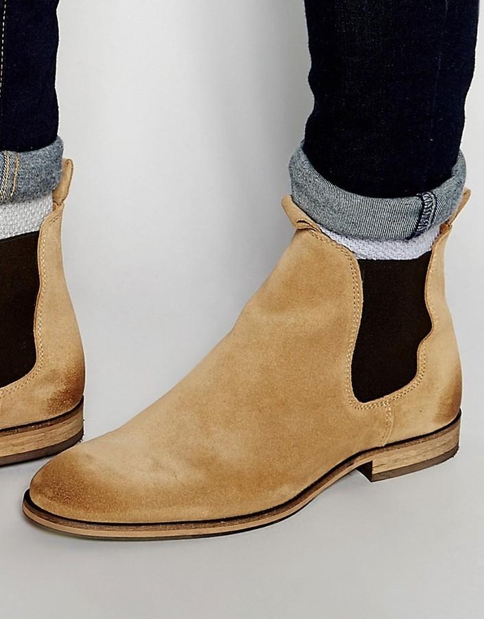 style exquis joli design détaillant $146, Selected Homme Melvin Suede Chelsea Boots