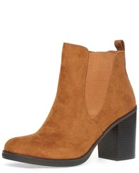 Lateo Tan Block Heel Boots