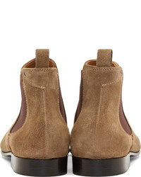 2114078cb619 ... Paul Smith Ps By Ecru Suede Falconer Chelsea Boots ...