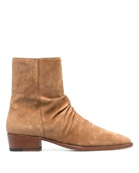 Amiri Stack Suede Ankle Boots