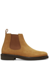 A.P.C. Tan Suede Simeon Chelsea Boots