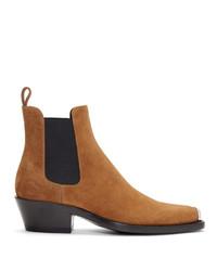 Calvin Klein 205W39nyc Tan Western Chris Crosta Chelsea Boots