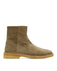 Isabel Marant Taupe Suede Claine Boots
