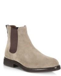 Brunello Cucinelli Two Tone Suede Chelsea Boots