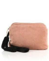 Suede tassel wristlet clutch medium 523552