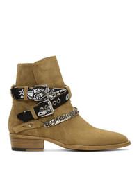 Amiri Tan Bandana Boots