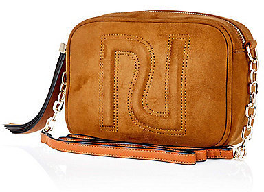b05d5f238 River Island Tan Brown Faux Suede Cross Body Ri Handbag, $40 | River ...