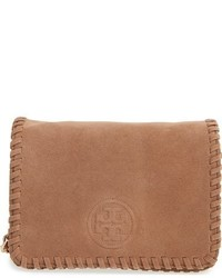 Tory Burch Marion Suede Crossbody Bag Brown