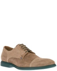 Tan Suede Derby Shoes