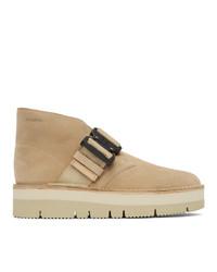 Clarks Originals Beige Suede Desert Boots