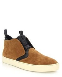 Z Zegna California Mixed Media Chukka Boots