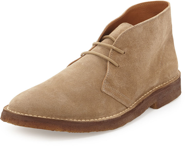 Ralph Lauren Collection Michl Suede Chukka Boot Tan | Where to buy ...