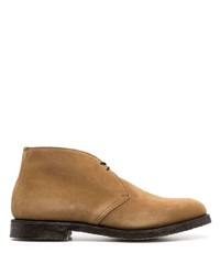 Church's Suede Almond Toe Lace Up Ankle Boots