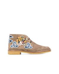 Gucci Tigers Head Appliqu Boots