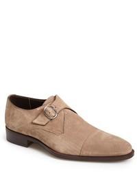 Canali Suede Monk Shoe
