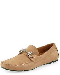 Tan Suede Driving Shoes