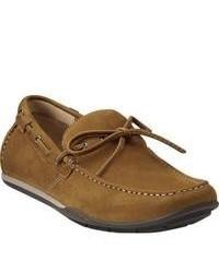 Clarks Rango Reed Tan Nubuck Driving Shoes