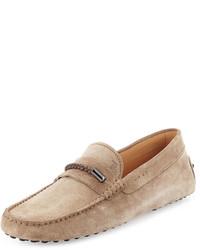 Gommini suede driving shoe tan medium 655118