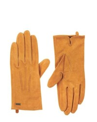 Tommy Hilfiger Classic Suede Gloves Golden Yellow