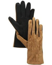 Touchpoint Pigsplit Elastic Cinched Back 100% Leather Glove With Tech
