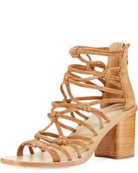 Rag & Bone Camille Caged Macrame Mid Heel Sandal