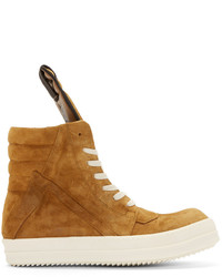 Mustard suede geobasket high top sneakers medium 321163