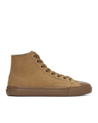 Paul Smith Taupe Suede Carver Sneakers