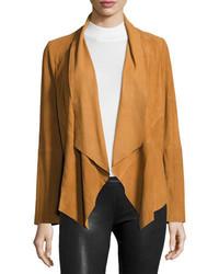 Draped suede jacket camel medium 826520