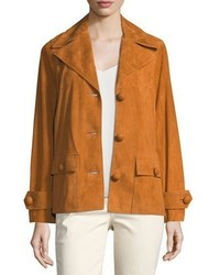 Tory Burch Holly Button Front Suede Jacket