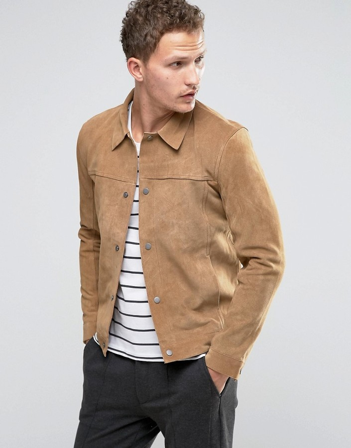 Jacket Selected Suede Where Buy How Western To Wear amp; Homme 4AtAwxqvS