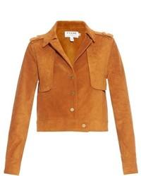 Le cropped suede jacket medium 727382