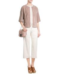 Suede short sleeve jacket medium 3758814