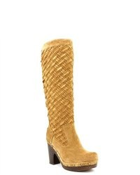 Tan Suede Knee High Boots