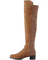 Stuart Weitzman Reserve Suede Stretch Back Over The Knee Boot Tan ...