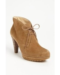 Tan Suede Lace-up Ankle Boots