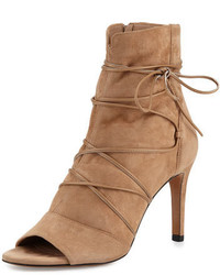 Adisa lace up open toe ankle boot sand medium 645531