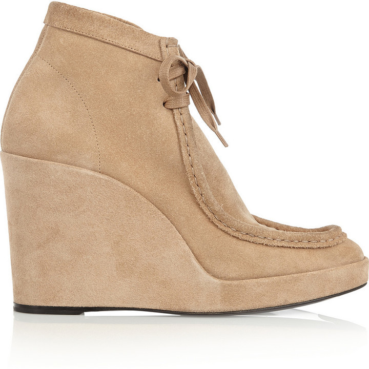 balenciaga suede wedge ankle boots where to buy how to