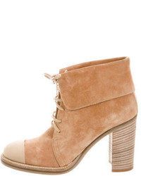 Reed Krakoff Cap Toe Lace Up Ankle Boots