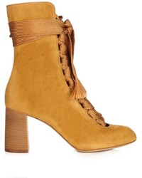 Chlo harper lace up suede ankle boots medium 891907