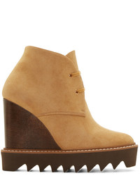 Tan suede ankle boots medium 344624