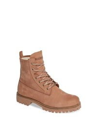 Blackstone Ol22 Lace Up Boot With Genuine Shearling Lining