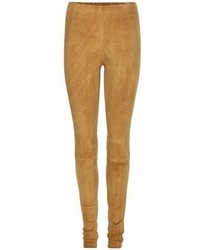 Tan Suede Leggings