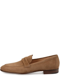 9ab8027ca5a ... Gravati Suede Penny Loafer Taupe